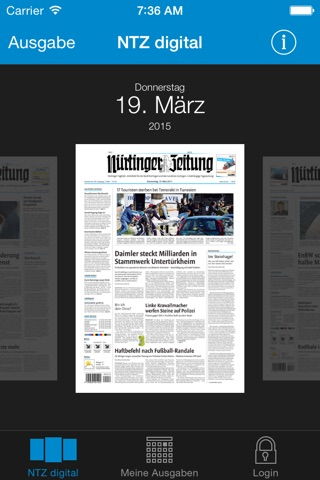 Nürtinger Zeitung digital screenshot 2
