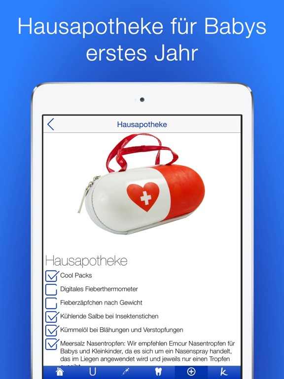 Babygesundheit Checklisten PRO Screenshots