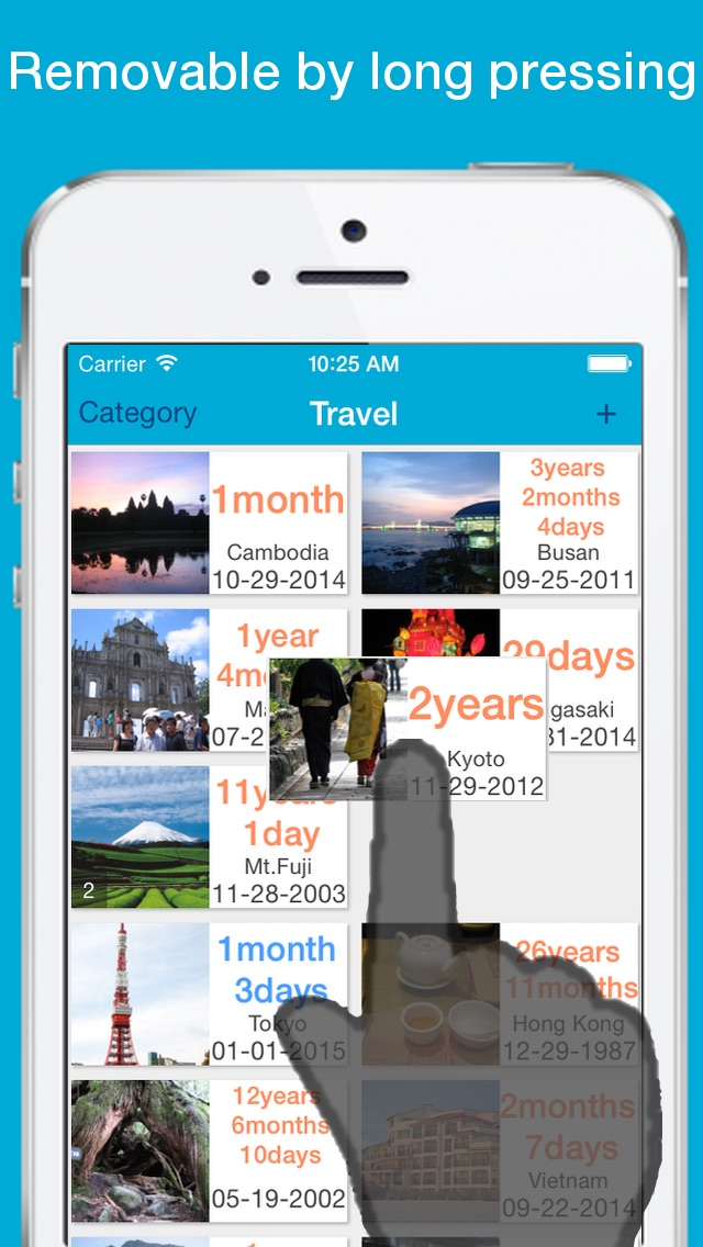 Screenshot of SinceTheDay Free - Countdown & Countup2