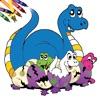 Libro su Dinosauri da Colorare!