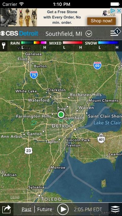 CBS Detroit WeatherScreenshot of 3