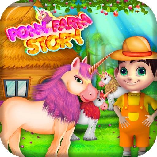 Pony Farm Story care and feeding game iOS App
