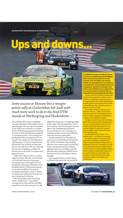 Audi Driver Magazine review screenshots