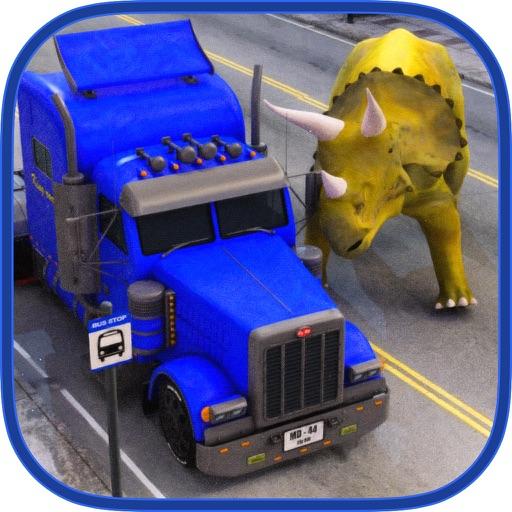 Dinosaur Transport Truck 2016: Allosaurus Simulator, Helicopter Flight and Off Road Driving Test iOS App