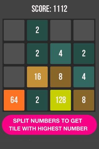 SPLIT NUMBERS - GET 1024 screenshot 1