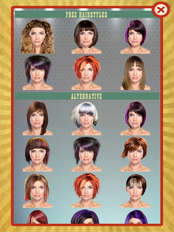 iPad Screenshot 3 - Your Perfect Hairstyle - Try On New Look In Seconds On The App Store