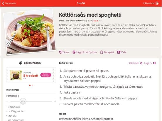 ica färsk pasta recept