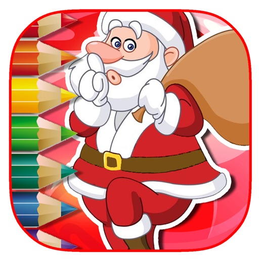 Free Coloring Page Game Santa Claus Free Version iOS App
