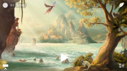 Screenshot #7 for Sunny ~ Calm wave & ocean sounds to Sleep Relax Meditate on the beach with rain and sea birds