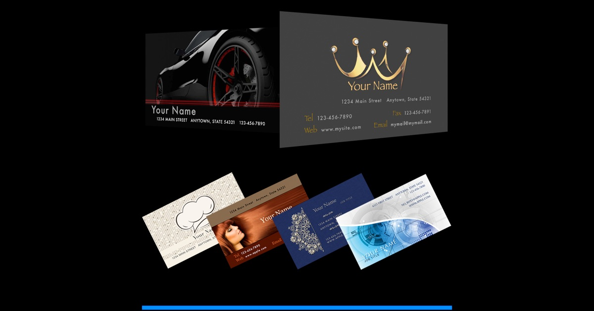 how to use publisher to make business cards