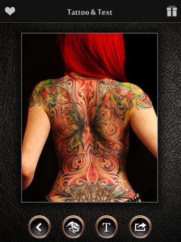 Screenshots of Virtual Tattoo Maker FREE - Photo Designer to add artist tattoos & fonts on yr body for iPad