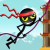 Action Stick-Man Ninja Swinging : Asian Skyscrapers Tight-Rope Swing Adventure FREE
