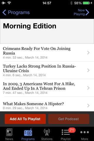 NPR News screenshot 3
