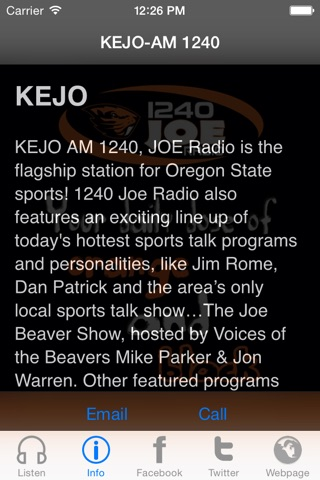 KEJO-AM 1240 screenshot 2