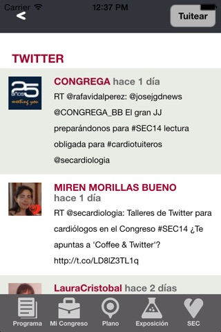 Congreso SEC 2014 screenshot 4