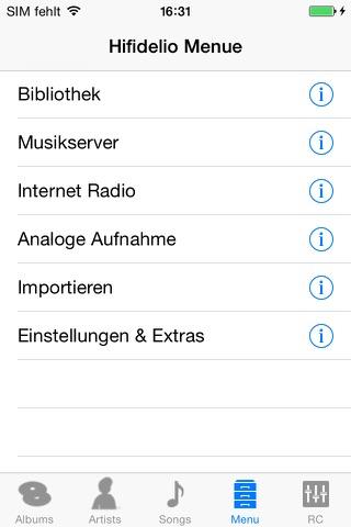 Hifidelio App screenshot 1