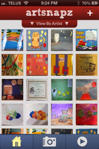 artsnapz:  Store and share your child's artwork. screenshot 1