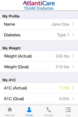 MEET ME @7 - Diabetes Self-management Tool for Patients and Caregivers screenshot 4