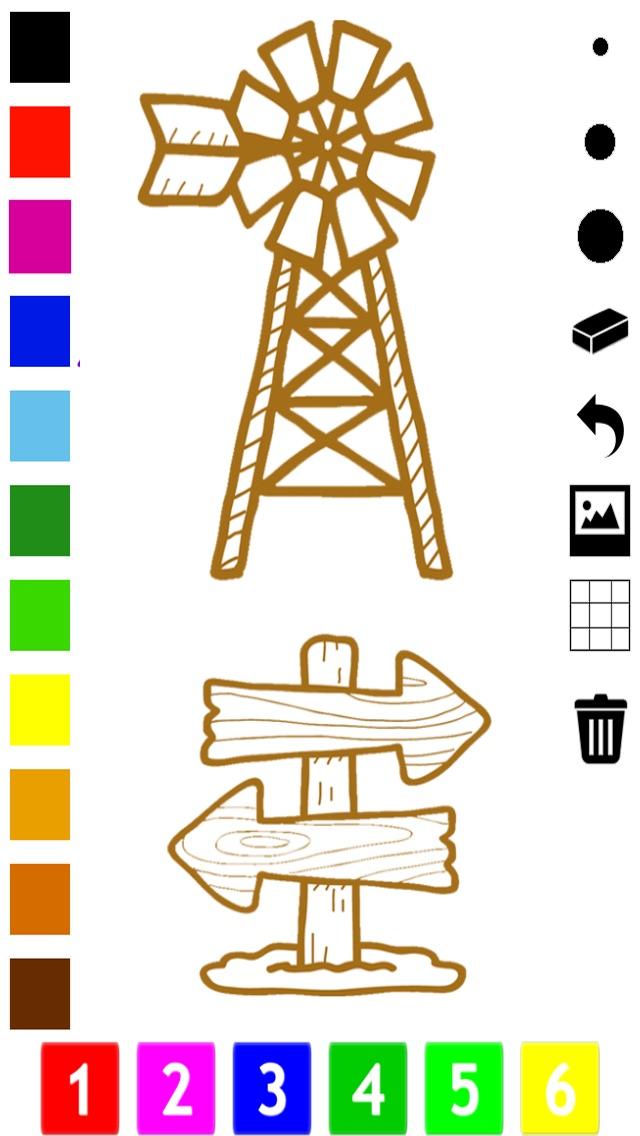 Screenshot of Un Libro da Colorare del Selvaggio West Per i Bambini: Impara a Dipingere Cowboy e Nativi Americani3