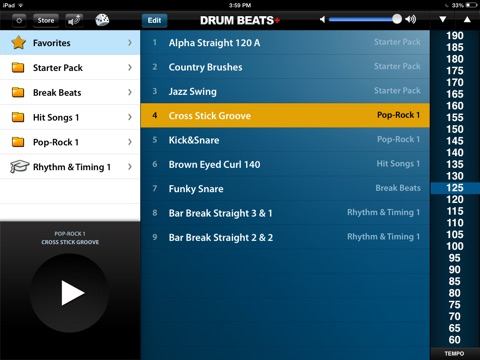 Screenshot #2 for Drum Beats+ (Rhythm Metronome, Loops & Grooves Machine)