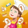 Attivo! Gioco Per Imparare a Contare i Numeri Per i Bambini Con la Cucina