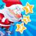 活动! 游戏圣诞节的孩子: 学习计数 数字1-10 与圣诞老人