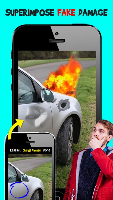 Screenshots of Damage Cam - Fake Prank Photo Editor Booth for iPhone