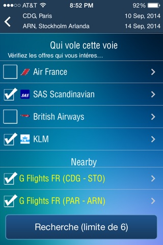 Frugal Flyer -enter once and get full offers from each airline screenshot 1