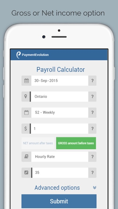 payroll calculator canada on the app store. Black Bedroom Furniture Sets. Home Design Ideas
