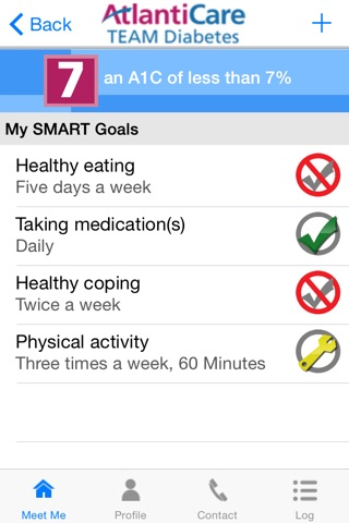MEET ME @7 - Diabetes Self-management Tool for Patients and Caregivers screenshot 3