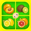 Baby Flash Cards ABC Fruits - Learning game for Kids in Preschool, K12 & Kindergarten