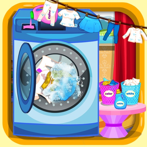 Laundry And ShortOutBedroom kids washing game iOS App