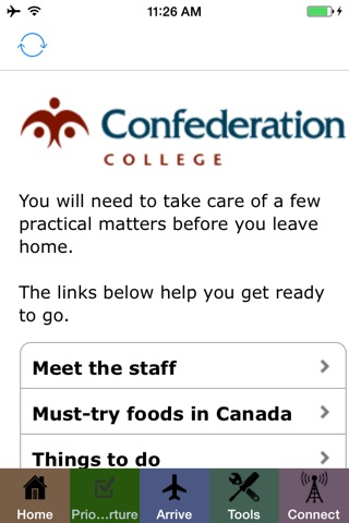 Confederation College Arrival screenshot 2