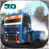 トラック運転手は、3Dを漂流