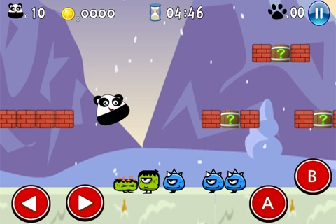 Super Pou Panda - Kung Fu Kick screenshot 2