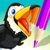 Aktiv! Malbuch der Vögel Für Kinder: Bilder Wie Pinguin, Ente, Eule, Flamingo und Papagei