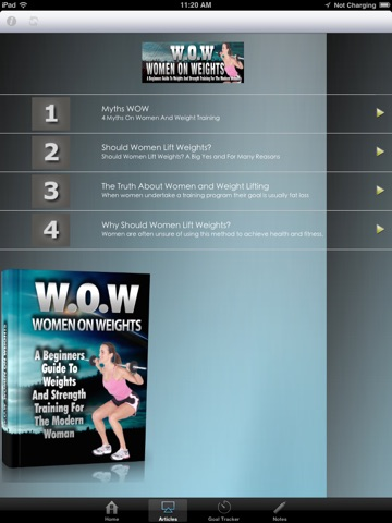 WOW:Beginners Guide to Weights and Strength Training for the Modern Woman screenshot 3