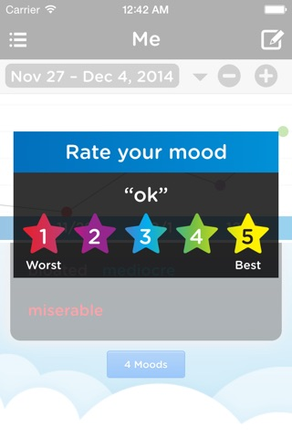 Moodtrack Diary: Private Mood Tracker & Mood Tracking Journal screenshot 4
