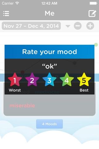 Moodtrack Diary: Private Mood Tracker & Mood Tracking Journal screenshot 4