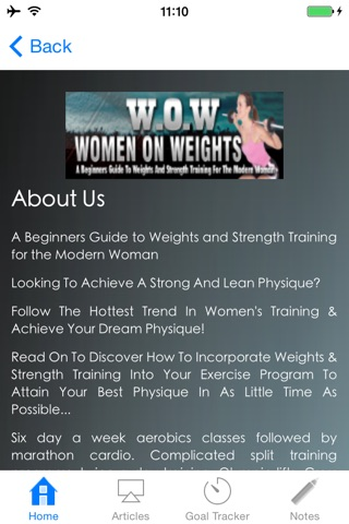 WOW:A Beginners Guide to Weights and Strength Training for the Modern Woman screenshot 2