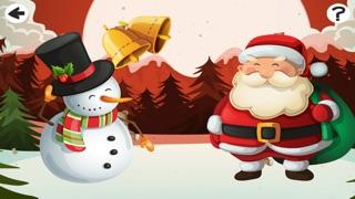 Un Jeu de Noël Enfants Avec le Père Noël, Bonhomme de Neige et des Cadeaux Gratuitement: Apprendre FunCapture d'écran de 1