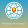 Karachay-Cherkessia Russia Map