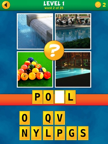 Screenshots of 4 Pics 1 Word Puzzle: What's That Word? for iPad