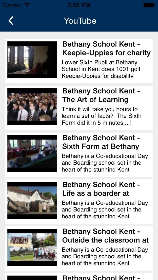 Bethany School Kent screenshot three