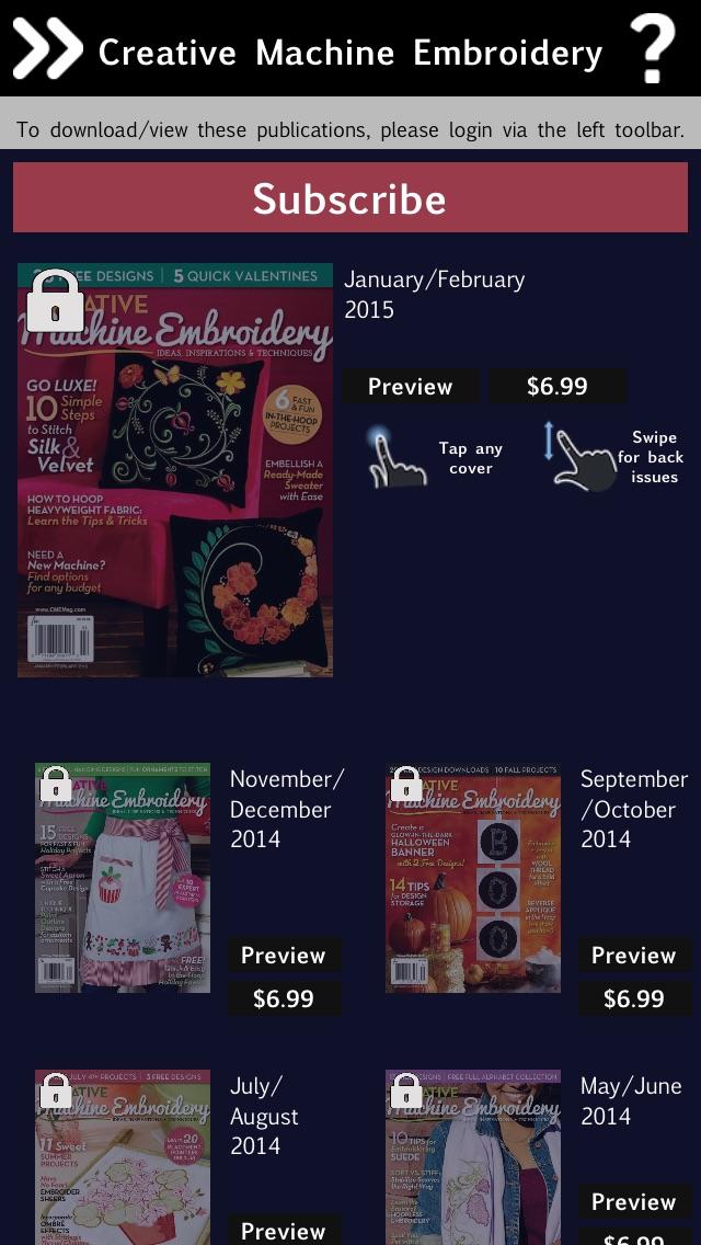Creative Machine Embroidery Magazine review screenshots