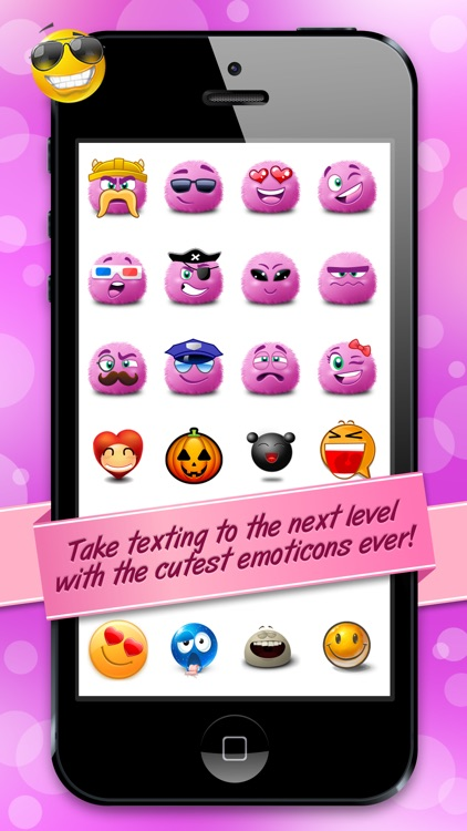 Emoticons Collection Emoji Smiley Faces With Cute Stickers For
