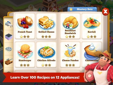Screenshots of Restaurant Story 2 for iPad