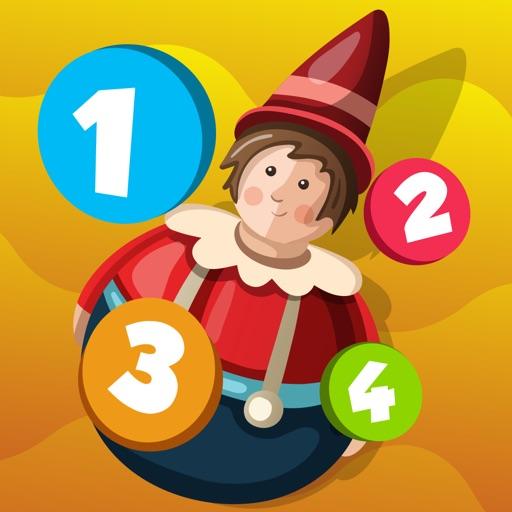 Attivo! Gioco Per i Bambini Per Imparare a Contare 1-10 Con i Giocattoli