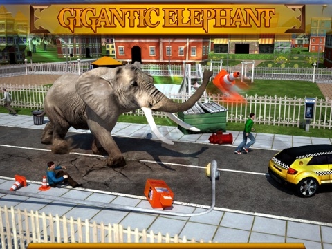 Screenshot #4 pour Angry Elephant Attack 3D