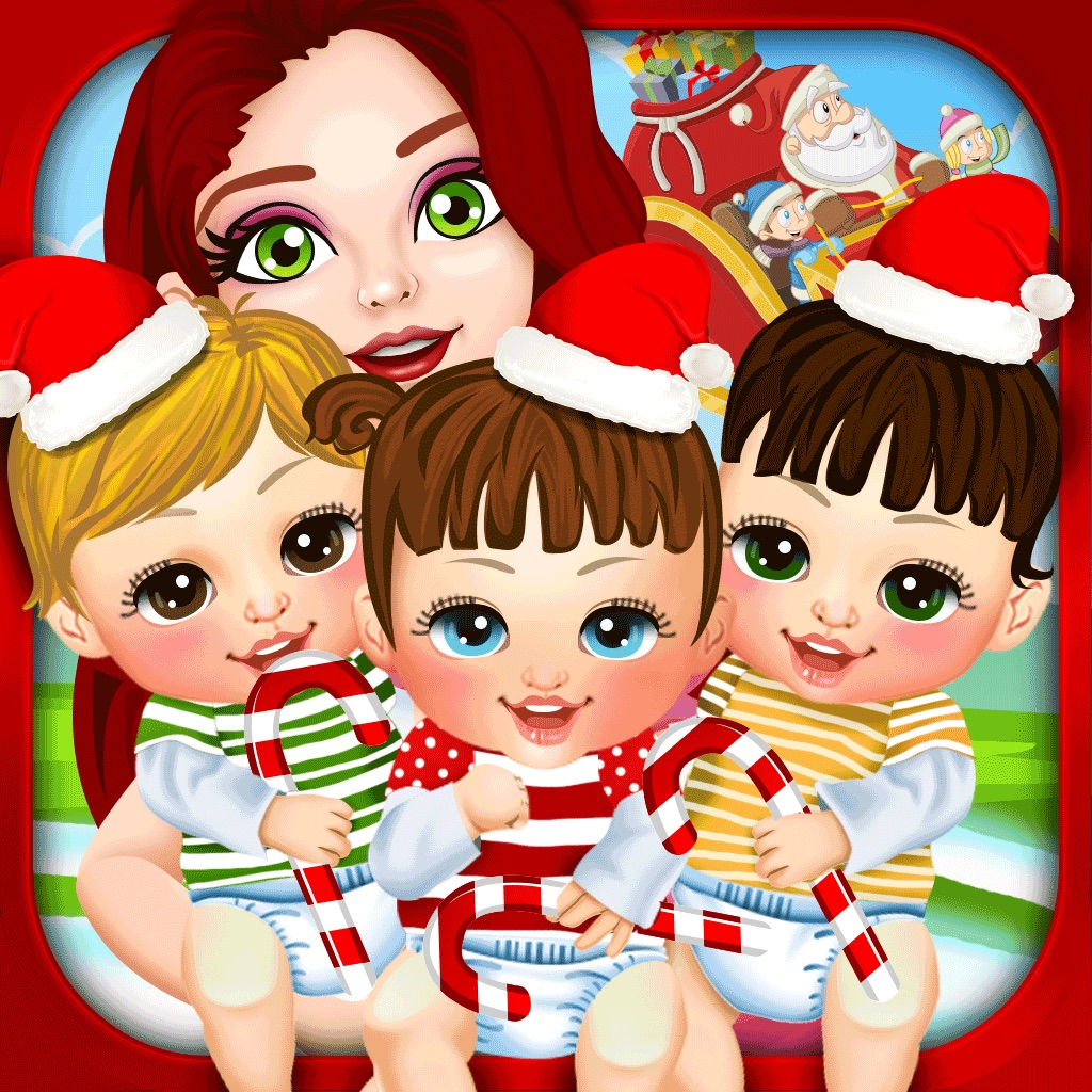 Girls Makeup Makeover And Games: Mommy's Christmas Newborn Baby Salon